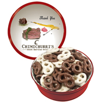 The Grand Tin - Chocolate Covered Mini Pretzels